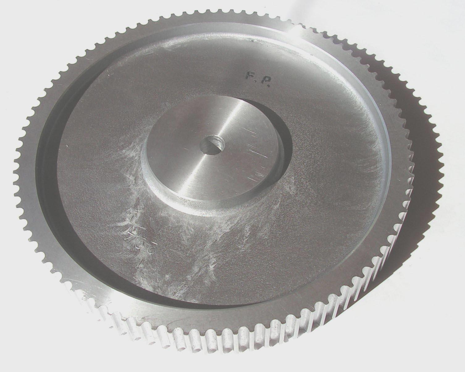 poulie crantee aluminium