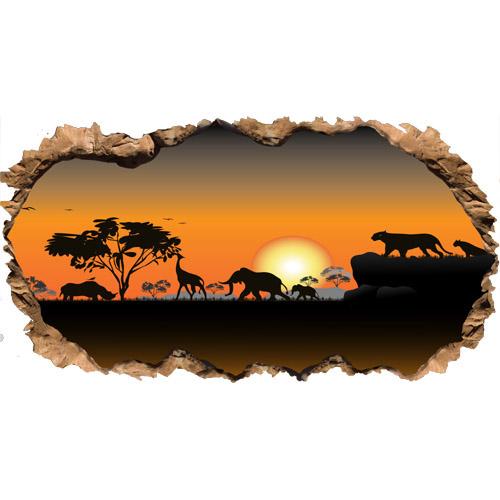 Stickers et autocollant tous les fournisseurs stickers - Animaux savane africaine ...