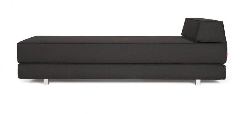 Canape design idouble noir 218 pieds metal convertible lit for Canape alcantara convertible