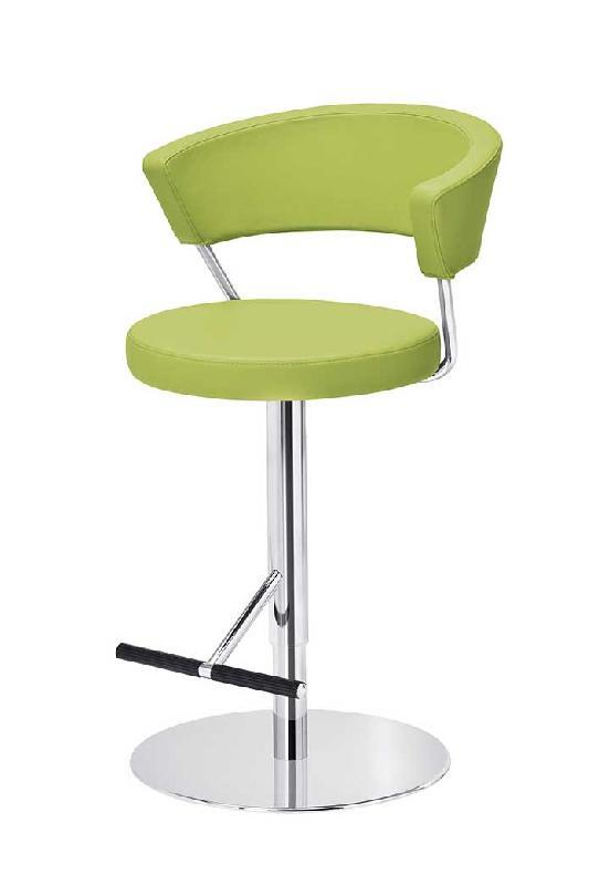 prinz sg tabouret pivotant reglable en similicuir vert. Black Bedroom Furniture Sets. Home Design Ideas