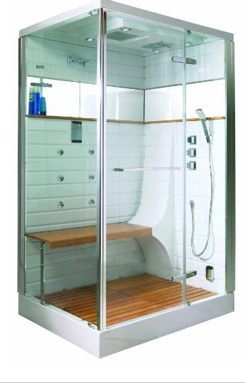cabine de douche hammam avec porte pivotante chrome. Black Bedroom Furniture Sets. Home Design Ideas