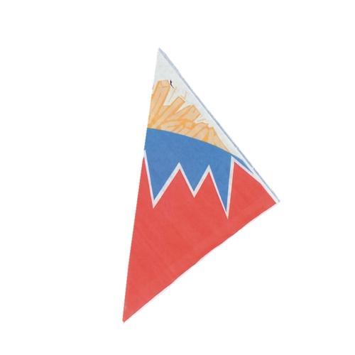 Cornets frites en papier parchemin artificiel avec for Papier parchemin cuisine