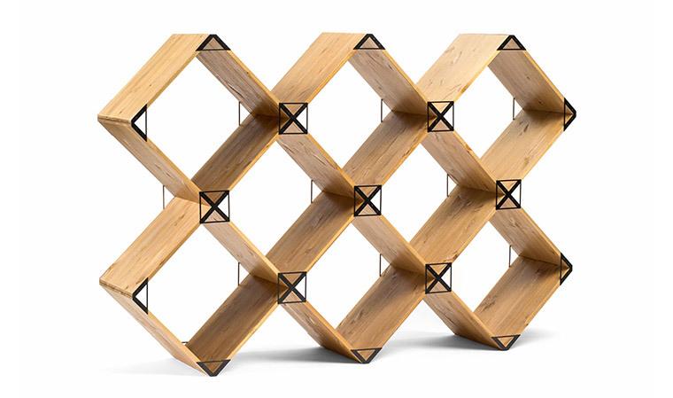 Connu Meuble bibliotheque design en bois massif - kubik EP23