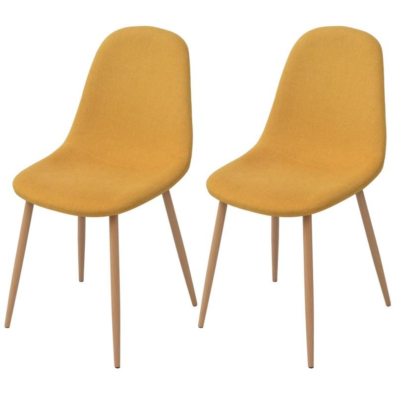 Chaises pour salles manger vidaxl achat vente de for Chaise de salle a manger jaune