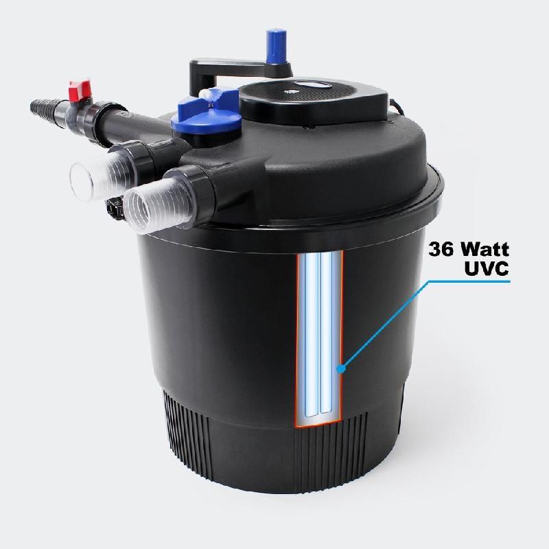 Filtre de bassin à pression uvc 36 watts jusqu\'à 40000l 4216139