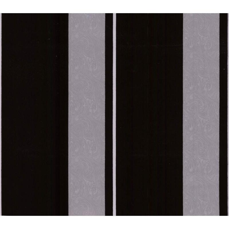 Papier peint flock intiss rayure noir 52cm x 10 05m for Prix pose papier peint intisse