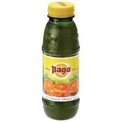 Paquet 12 bouteilles 33cl pago orange