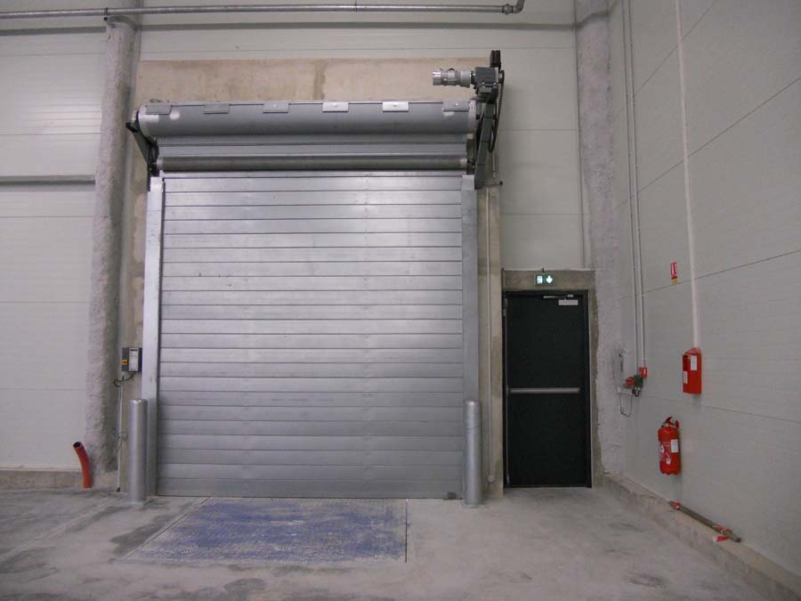 Porte rapide / à enroulement / en métal / utilisation intérieure