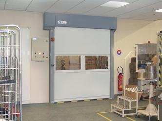 Ba2i produits portes rapides for Porte a enroulement