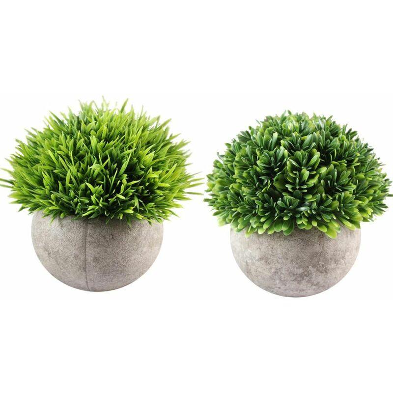 Lot de 2 succulentes Plantes 8 cm en pierre pot décoration maison fleurs artificielles