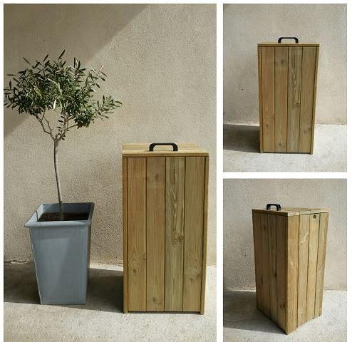 poubelle publique wood parck. Black Bedroom Furniture Sets. Home Design Ideas