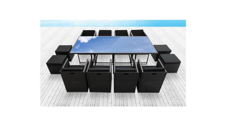 Salon de jardin miami noir des id es for Ikea salon de jardin en resine tressee