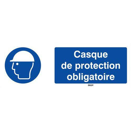 PANNEAU OBLIGATION - CASQUE DE SÉCURITÉ OBLIGATOIRE - RIGIDE ... a9d408c6e9ef