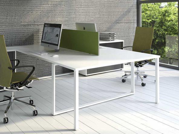 Bureau bench 2 personnes phoenix avec extension comparer for Mobilier bureau 2 personnes