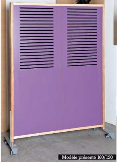 cloison sur roulettes anti bruit mpa hauteur 160cm x largeur 100 cm. Black Bedroom Furniture Sets. Home Design Ideas