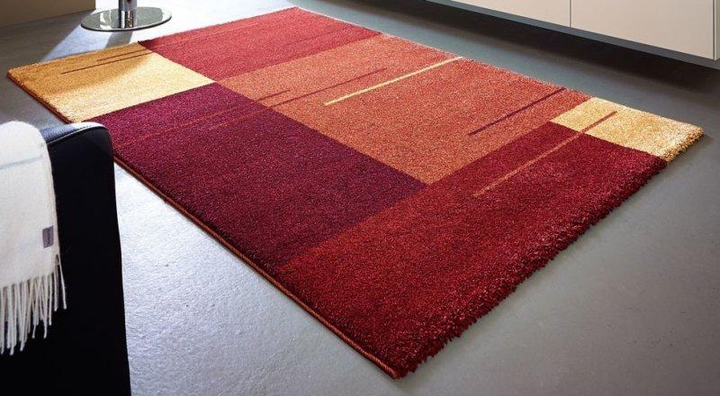 samoa design tapis patchwork bordeaux et orange 67x130 cm. Black Bedroom Furniture Sets. Home Design Ideas