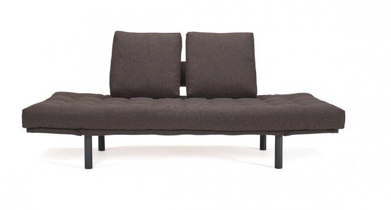 Innovation living canape design rollo marron convertible lit 200 80 cm pietem - Canape convertible profondeur 80 cm ...