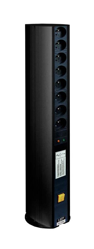 potelet de distribution noir double 16 prises parasurtenseur et un interrupteur. Black Bedroom Furniture Sets. Home Design Ideas