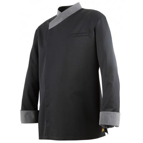 Veste de cuisine noire exalt's molinel