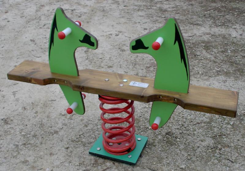 Jeu sur ressort 2 places cheval balancoire - Balancoire 2 places ...