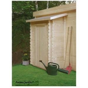 Remise à outils 1 porte adossable pour abri de jardin - s8755