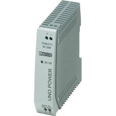ALIMENTATION RAIL DIN PHOENIX CONTACT UNO-PS/1AC/5DC/25W 85 V/DC 5 A 25 W 1 X