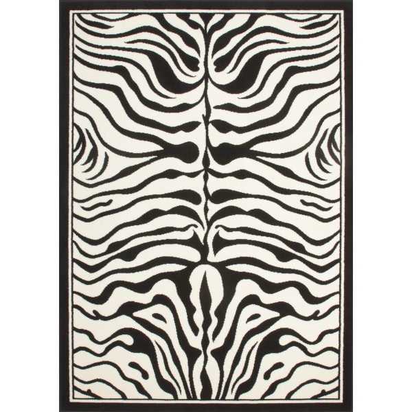 tapis africain noir blanc zebre 160cmx230cm. Black Bedroom Furniture Sets. Home Design Ideas