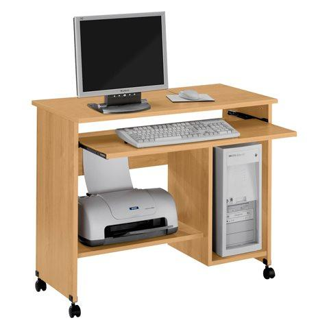 BUREAU INFORMATIQUE MOBILE START PLUS PIÈTEMENT BOIS -