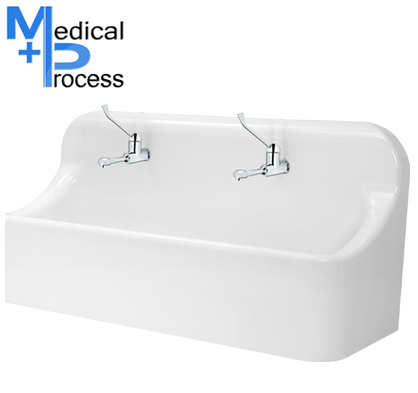 lavabo medical mp 39 duo a commande a coude medical process. Black Bedroom Furniture Sets. Home Design Ideas