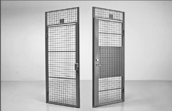 Cloison grillag e pour l 39 habitat collectif porte battante Porte metallique cave