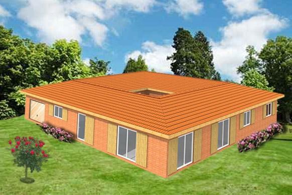 kit maison a ossature en bois wenge. Black Bedroom Furniture Sets. Home Design Ideas