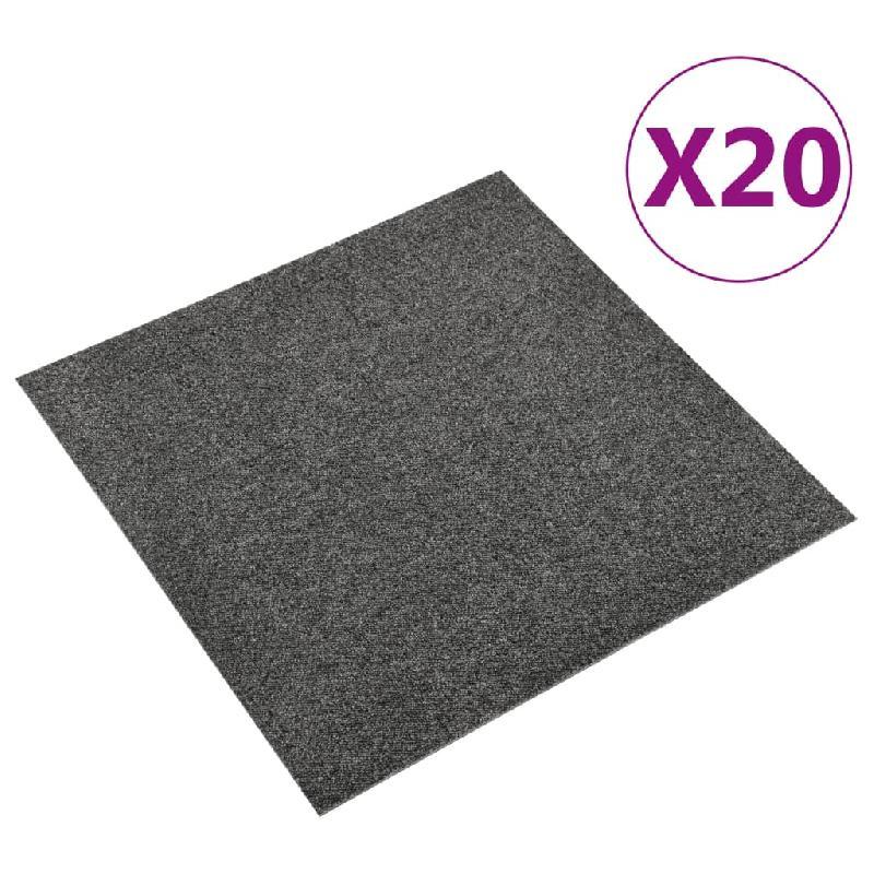 Vidaxl dalles de tapis de sol 20 pcs 5 m² 50x50 cm anthracite