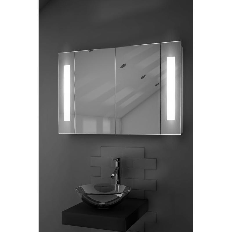 Armoire de toilette lumineux led antibu e capteur rasoir for Armoire de toilette miroir lumineux