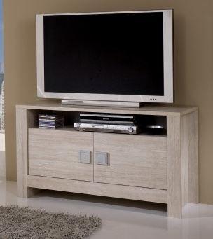Meuble tv contemporain chêne blanchi clea