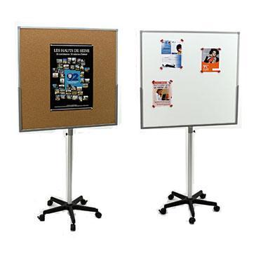 tableau mobile double face li ge et blanc 90 x 90 cm comparer les prix de tableau mobile double. Black Bedroom Furniture Sets. Home Design Ideas