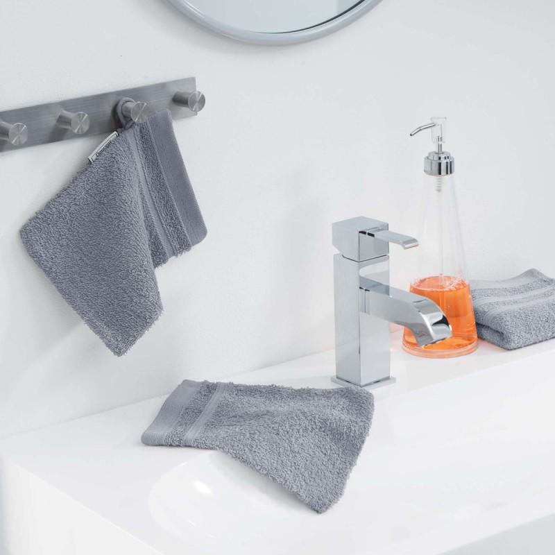 Lot de 2 gants de toilette vitamine 15x21cm gris - paris prix