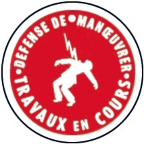 MACARON DE CONSIGNATION, PLASTIQUE,  DIAM.100MM