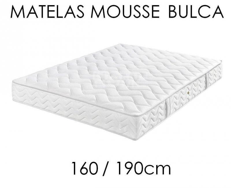matelas mousse bulca couchage 160 200cm epaisseur 20cm. Black Bedroom Furniture Sets. Home Design Ideas