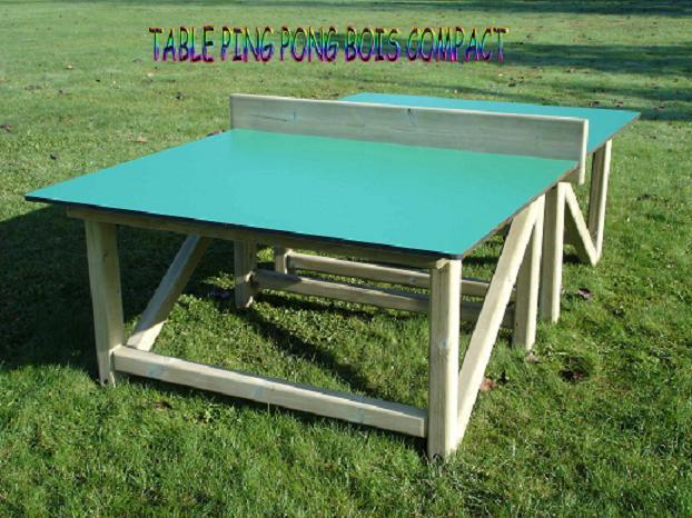 Table ping pong compact bois Dimensions d une table de ping pong