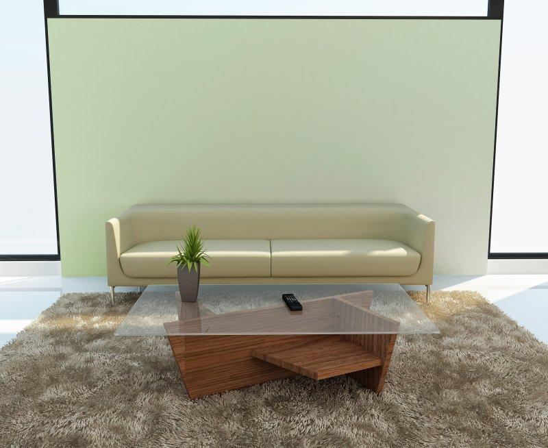 Temahome oliva coffee table basse design bois plateau verre - Table basse bois verre design ...
