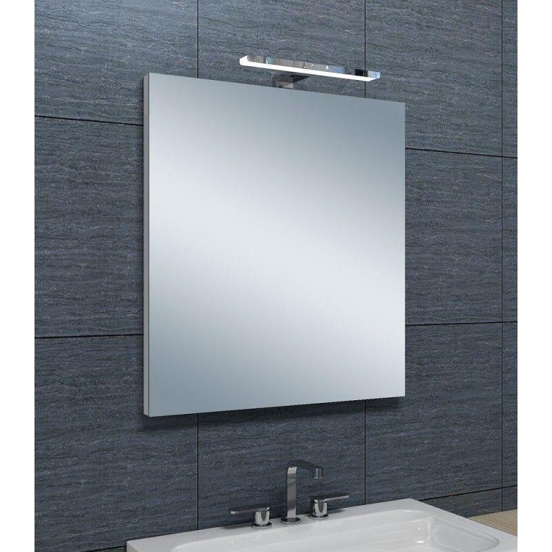 miroir de salle de bains avec spot led horizontale 65 cm x 60 cm hxl pradel comparer les. Black Bedroom Furniture Sets. Home Design Ideas