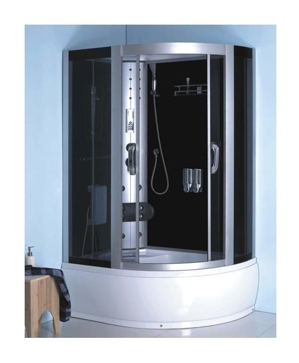 combin baignoire douche koss angle gauche 120 85 215 cm. Black Bedroom Furniture Sets. Home Design Ideas