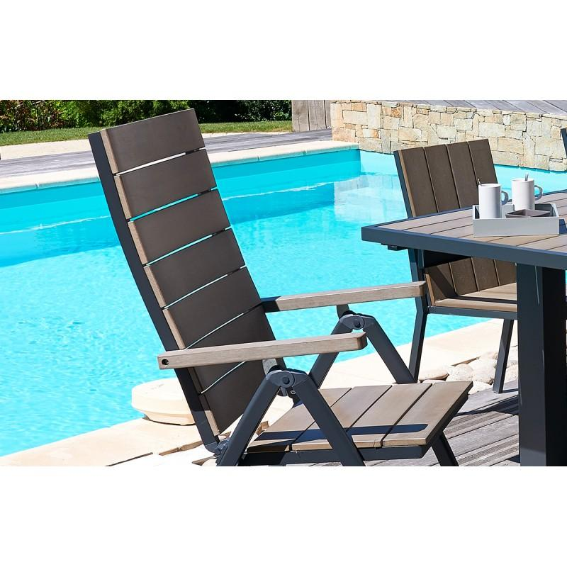 fauteuil de jardin multi positions comparer les prix de fauteuil de jardin multi positions sur. Black Bedroom Furniture Sets. Home Design Ideas