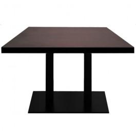 table a manger t527 de restaurant base rectangulaire ultra plat en acier noir avec plateau. Black Bedroom Furniture Sets. Home Design Ideas