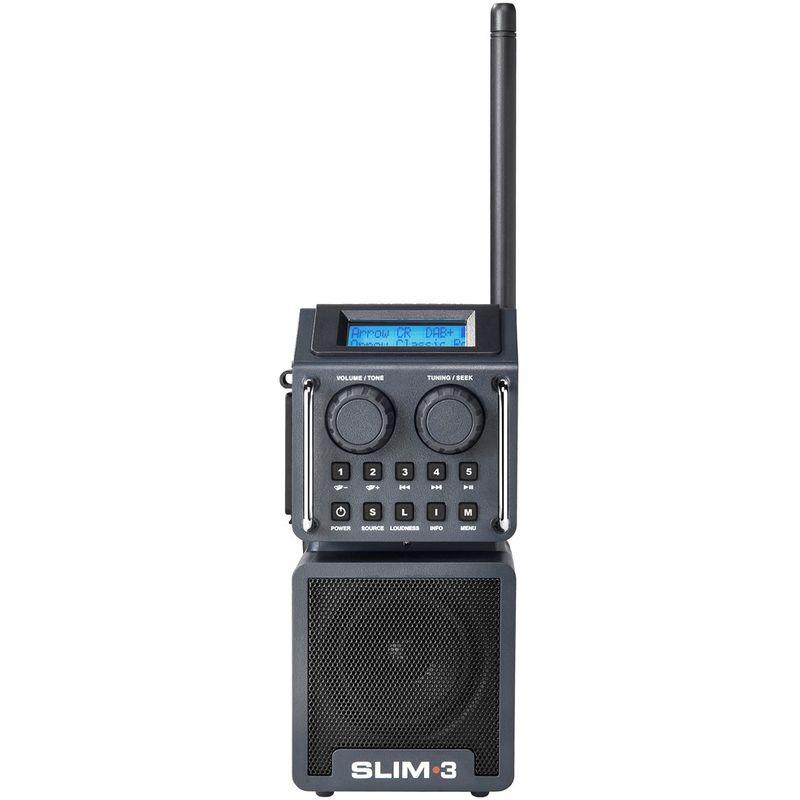 PERFECTPRO SLIM 3 - RADIO DE CHANTIER FM RDS - DAB+ - BLUETOOTH - USB/SD - BATTERIE ET SECTEUR (BATTERIES INCLUSES)
