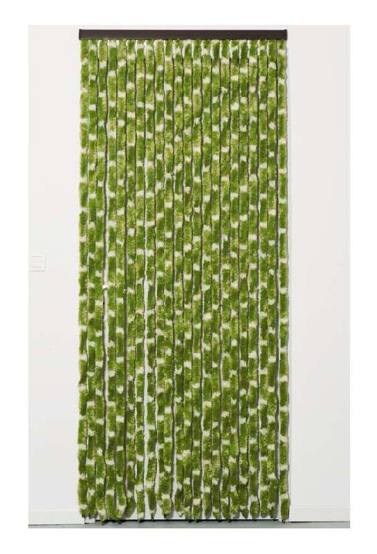 Rideau chenille 90 x 220 cm vert blanc p outillage - Rideau hauteur 220 ...
