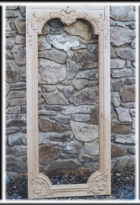 Sculpture ornemaniste - boiseries : porte de bibliothèque 2