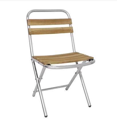 chaise pliante en aluminium et bois bolero. Black Bedroom Furniture Sets. Home Design Ideas