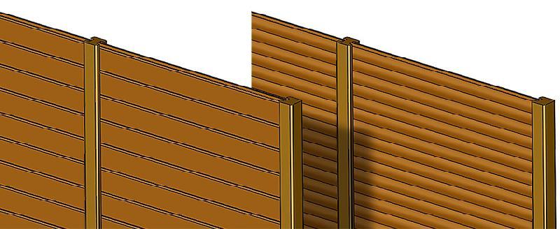 palissade en bois luexpert boiscom clture bois papyrus. Black Bedroom Furniture Sets. Home Design Ideas