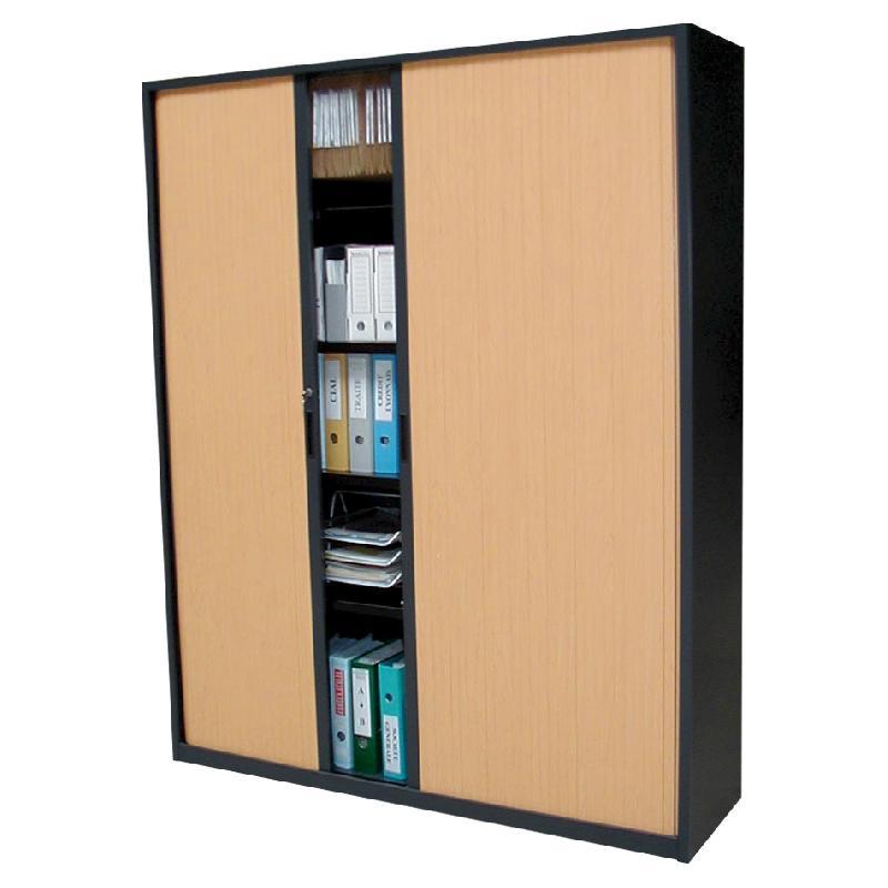armoire grande largeur rideaux ton bois pr te comparer. Black Bedroom Furniture Sets. Home Design Ideas